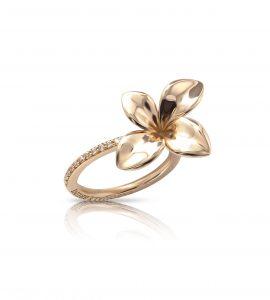 Bague Giardini segreti or rose ET diamants