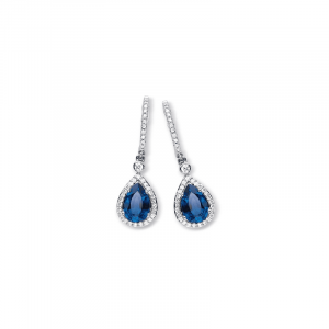 Boucles d'oreilles saphir & diamants