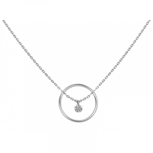 Collier Excentrique rond 0,12ct