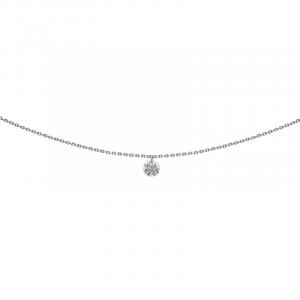 Pendentif 360° or blanc diamant 0.20 ct