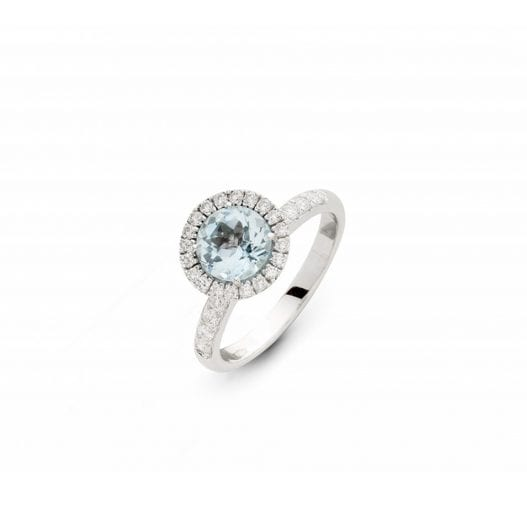 bague diamant topaze