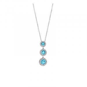 Pendentif Topazes & Diamants