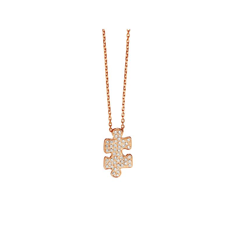 pendentif mini puzzle et diamants