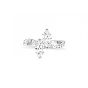 Bague Toi & Moi diamants Navettes