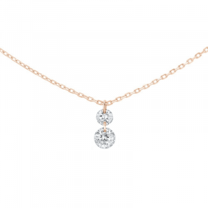Collier 360° Duo or rose 0.20ct