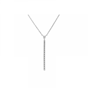 Collier ligne diamants