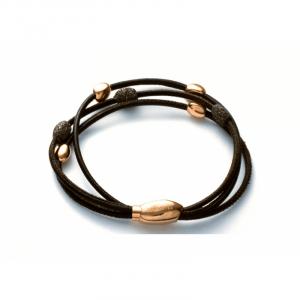 Bracelet Polvere bronze cuir marron