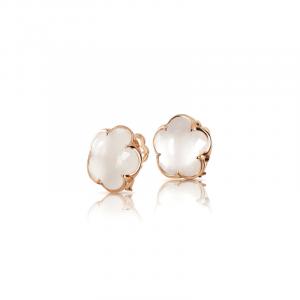 Boucles d'oreilles Milky quartz