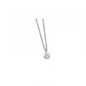 Pendentif or Blanc Diamant 0.07ct