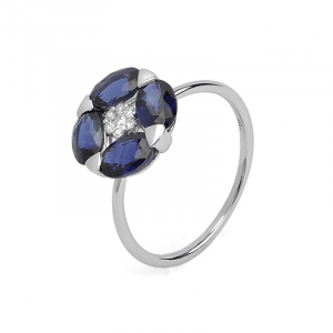 "Bague "" Spring"" Saphirs et diamants"