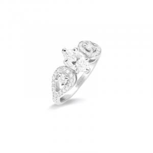 Solitaire diamant Navette