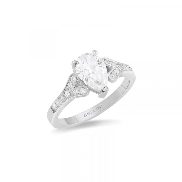 Solitaire diamant Poire DVS2