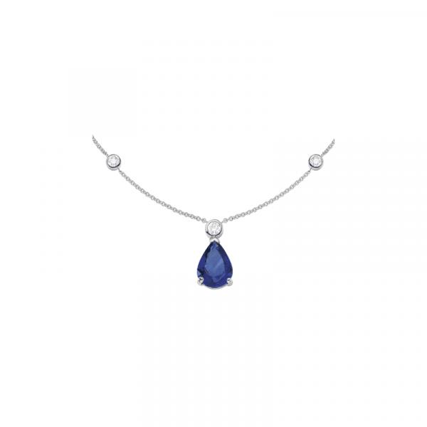 Collier Tanzanite & diamants