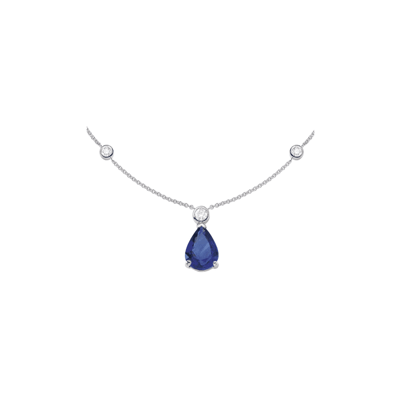 Collier Tanzanite & diamants