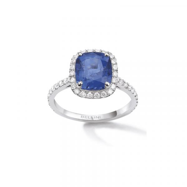Bague saphir Ceylan & diamants
