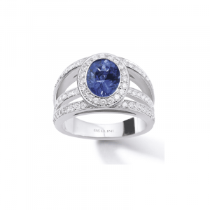 Bague Tanzanite & diamants