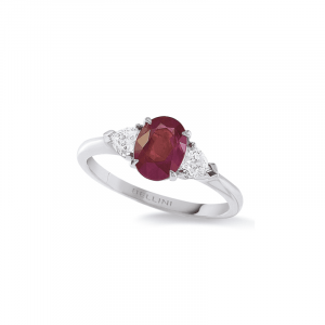 Bague Rubis & diamants