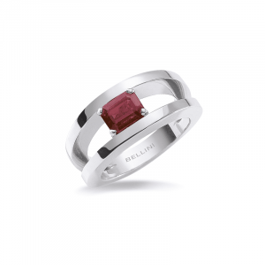 Bague Rubis rectangle