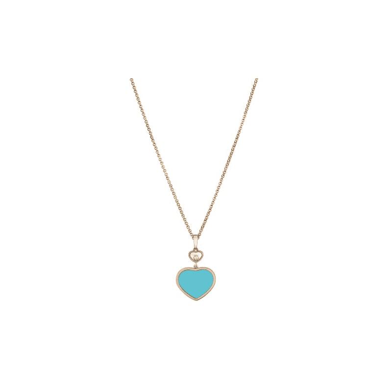 pendentif happy hearts turquoise chopard bellini bijoux aix en provence. Black Bedroom Furniture Sets. Home Design Ideas
