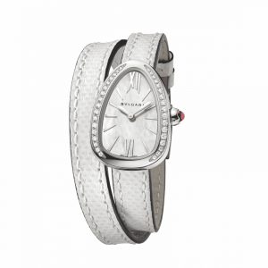 Serpenti quartz acier & diamants