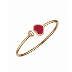 BRACELET HAPPY HEARTS CORAIL & DIAMANT