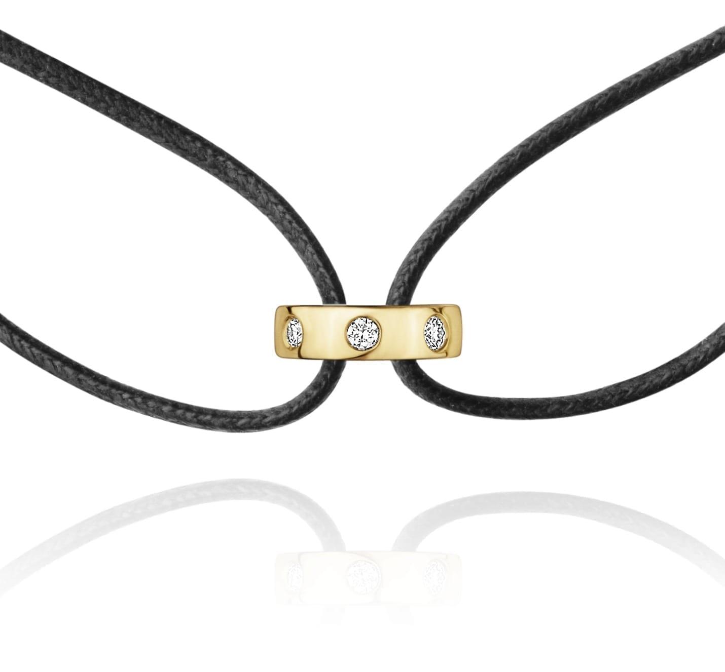 bracelet magic or jaune diamants georg jensen bellini bijoux aix en provence. Black Bedroom Furniture Sets. Home Design Ideas