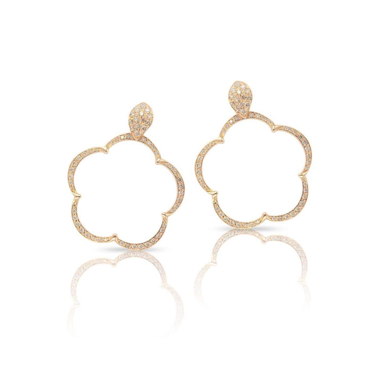 boucles d 39 oreilles or rose diamants pasquale bruni bellini bijoux aix en provence. Black Bedroom Furniture Sets. Home Design Ideas