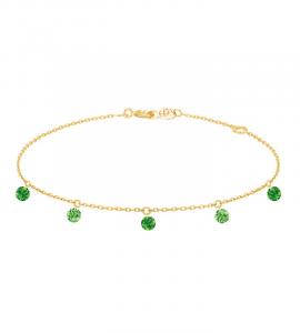 Bracelet CONFETTI VERT – 5 pierres
