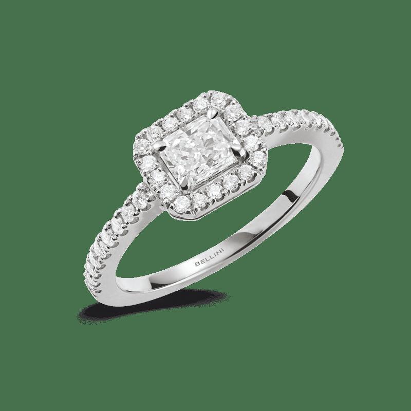 bague diamant taille radiant