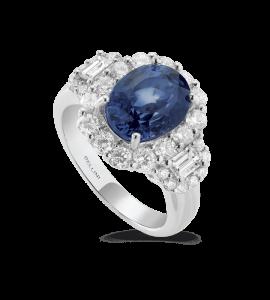 "Bague saphir ""royal blue"""
