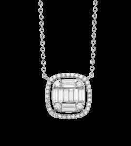 Collier diamants baguettes