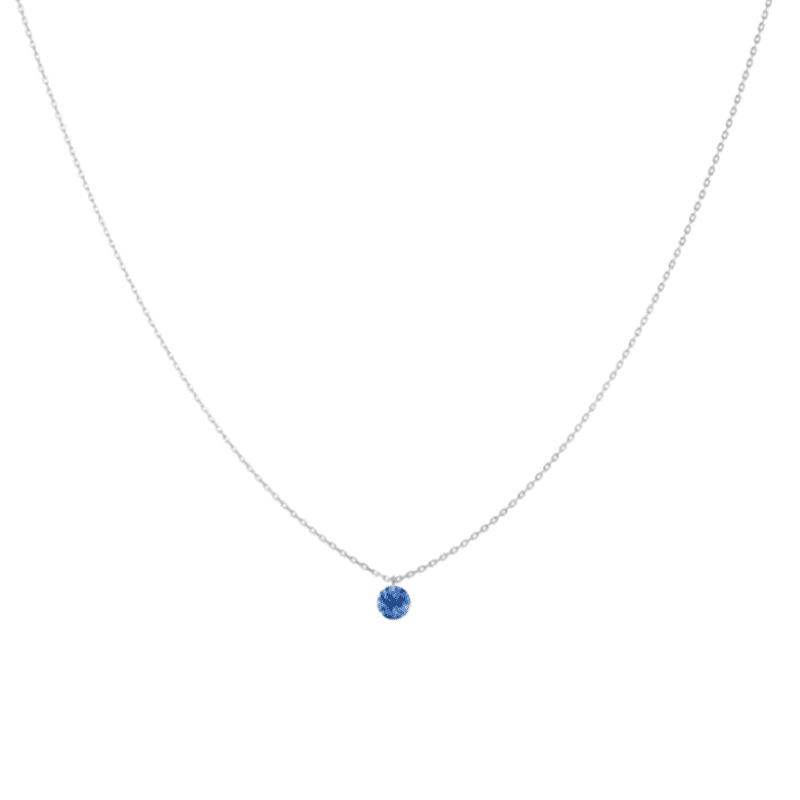 large choix de couleurs et de dessins comment trouver en arrivant Collier CONFETTI saphir bleu 0,30 ct
