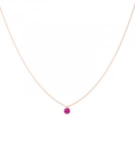 Collier CONFETTI rubis solitaire 0,50 ct