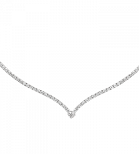 Collier ligne diamants V