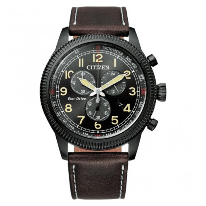 montre-citizen-military-cuir-bellini