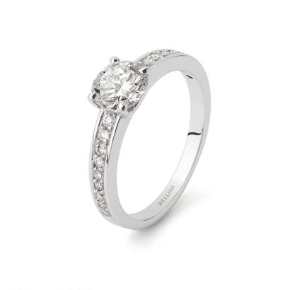 Solitaire diamant 0,88ct G SI1 certifié