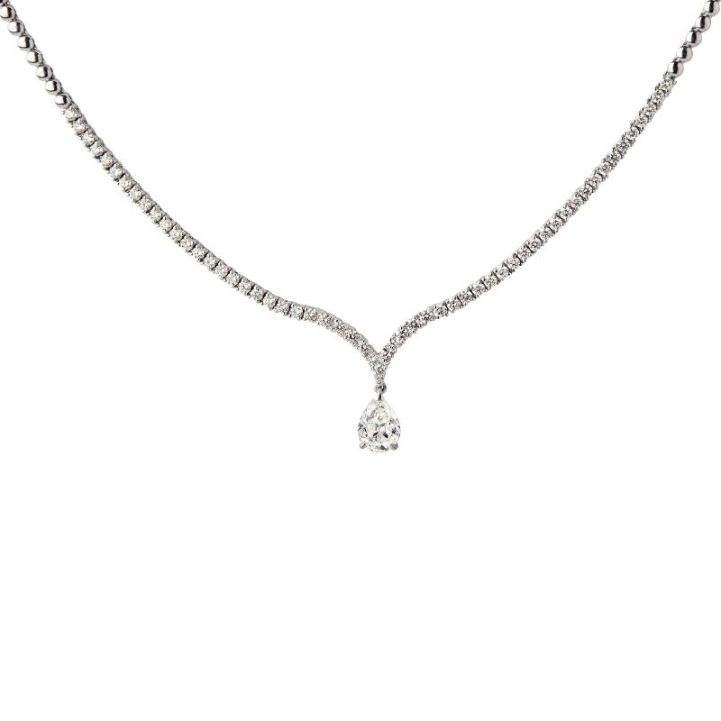 Collier diamant poire 1,32ct certifié