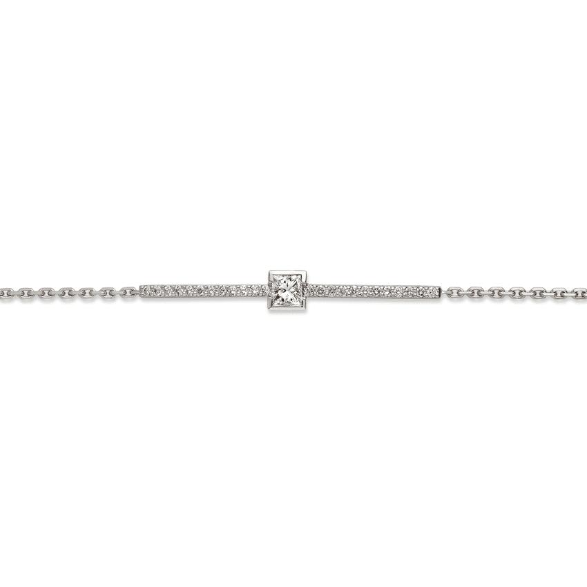 Bracelet semi rigide diamant certifié 0.28ct