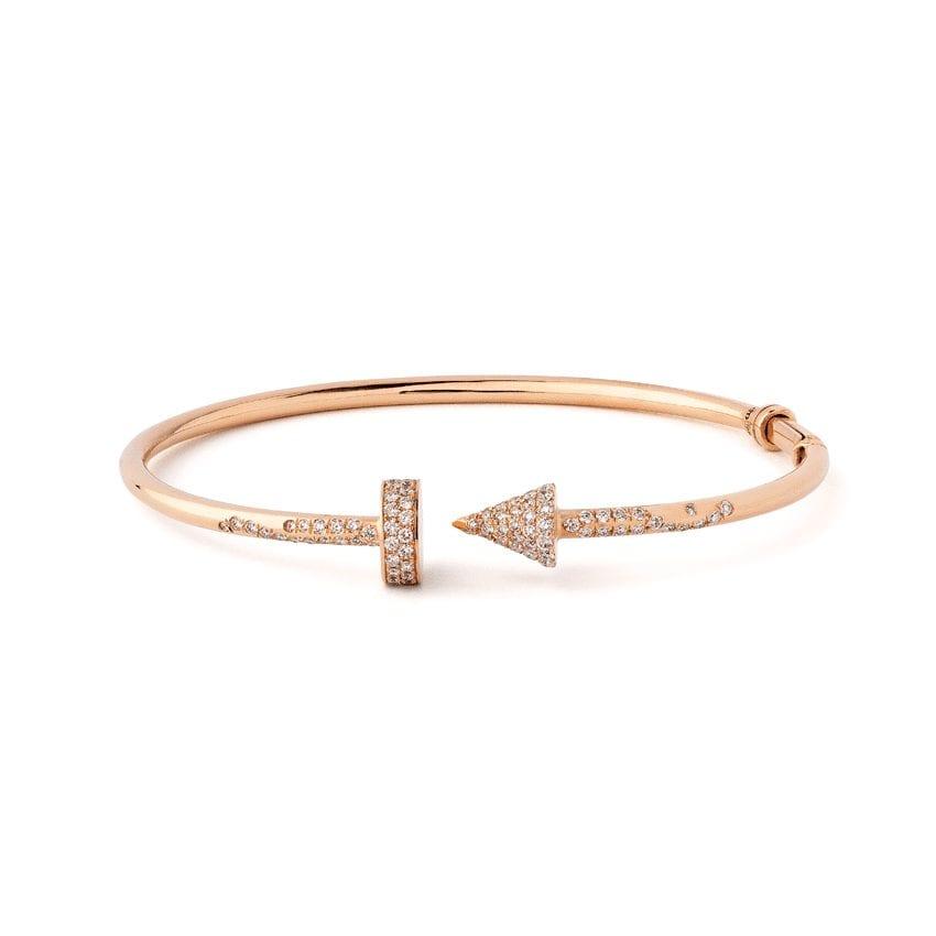 Bracelet rigide diamants 1ct