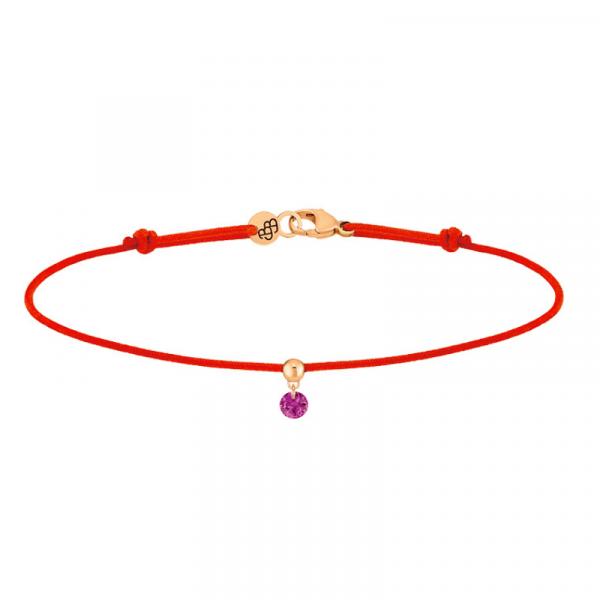 Bracelet-BB-cordon-rouge-rubis-or-rose-brune-blonde-bellini