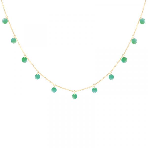 Collier-Polka-11-pierres-onyx-vert-or-jaune-bellini